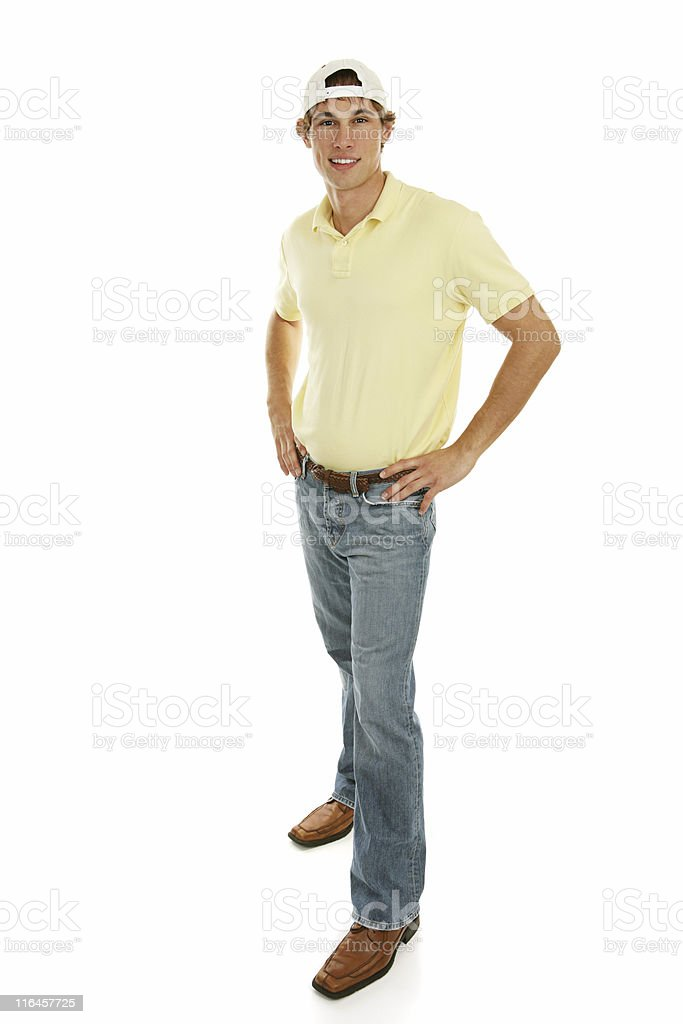 Casual Teen Male Full Body royalty-free stock photo