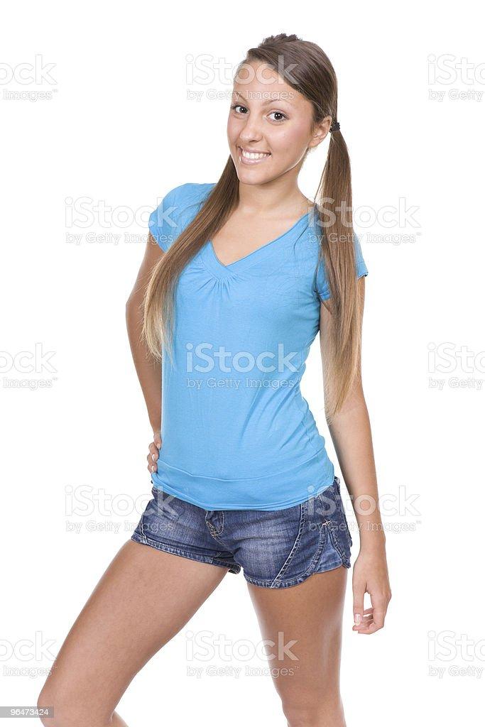casual teen royalty-free stock photo
