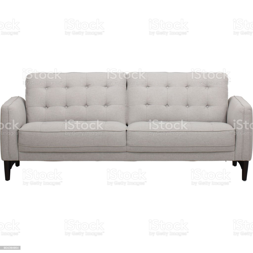 Casual Traditional Oyster Cream Sofa stock photo