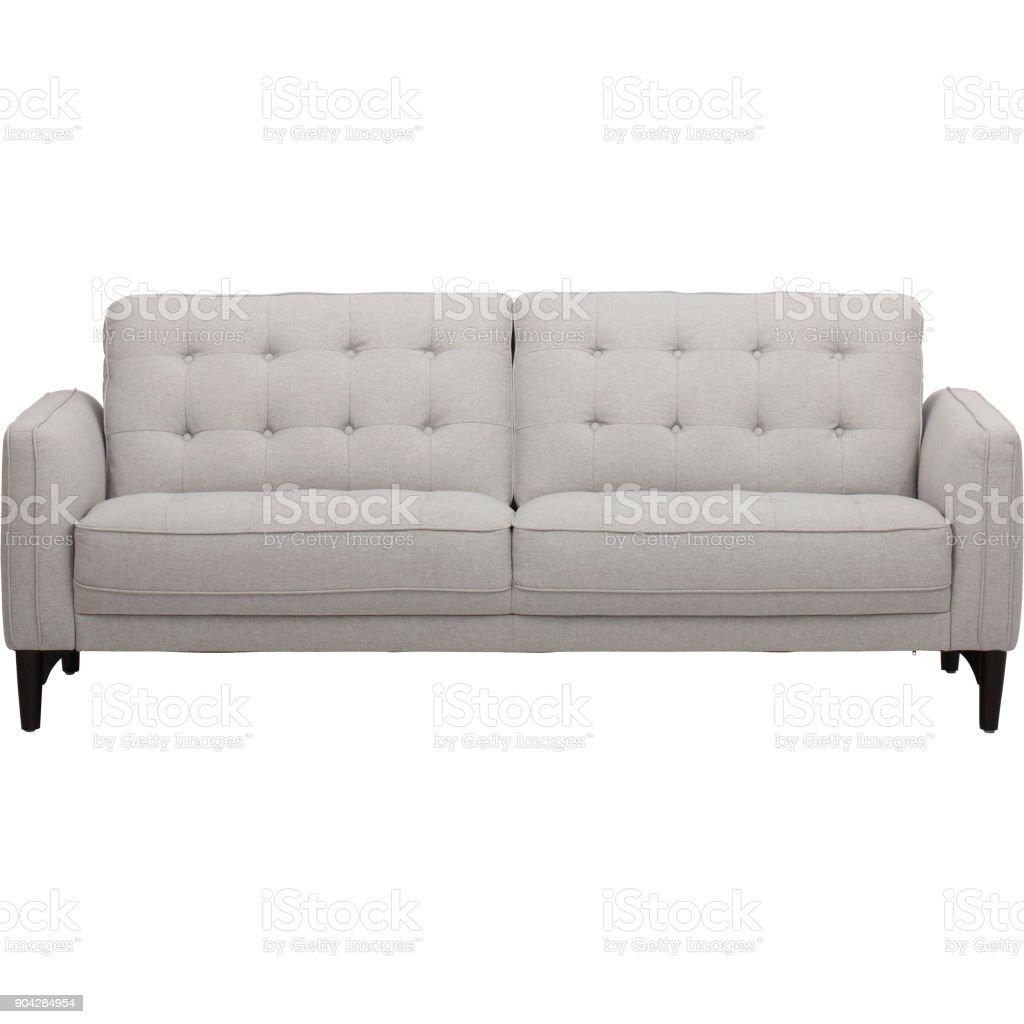 Crema de ostra tradicional ocasional sofá - foto de stock