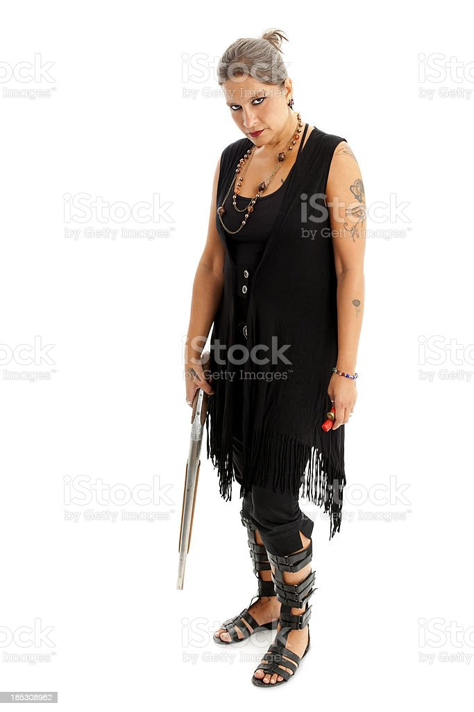 Casual wearing mysterious looking women royalty-free stock photo
