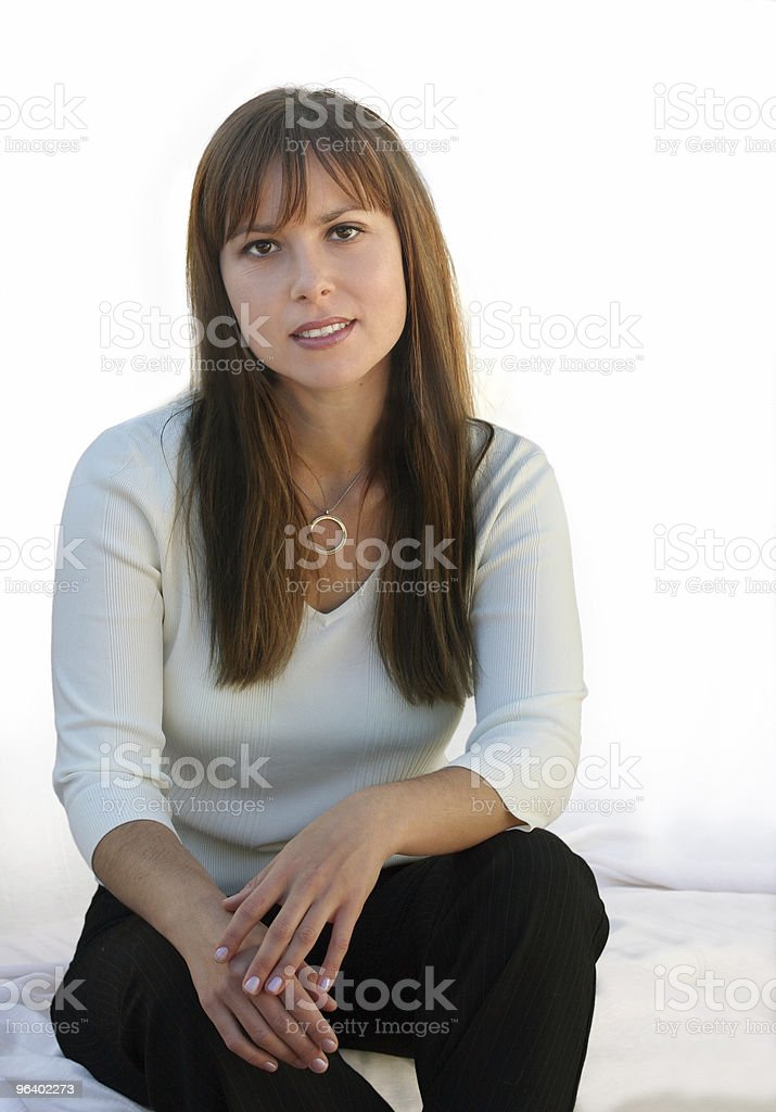 Casual woman at home royalty-free stock photo