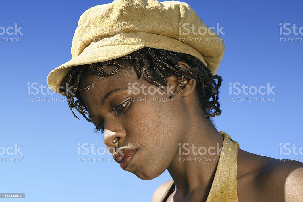 Casual woman (close-up) royalty-free stock photo