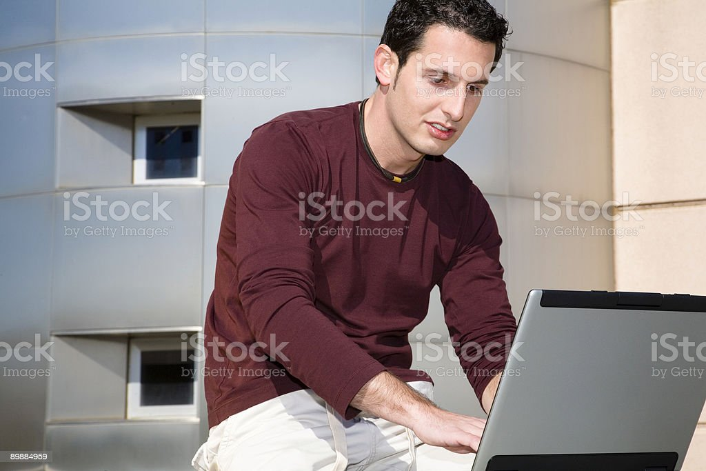 Casual work royalty-free stock photo