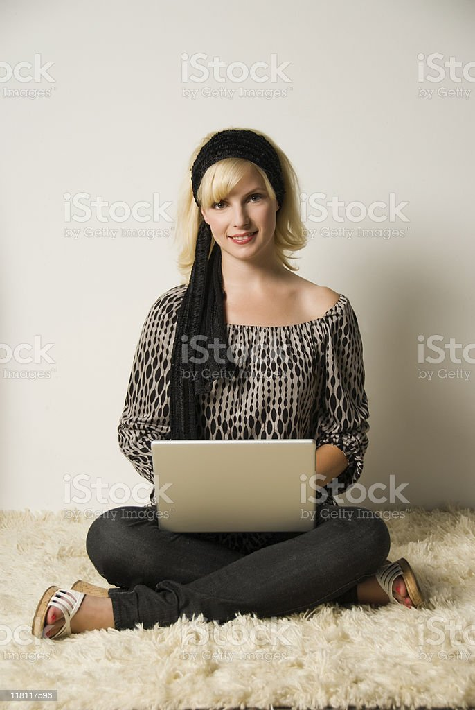 Casual Working royalty-free stock photo