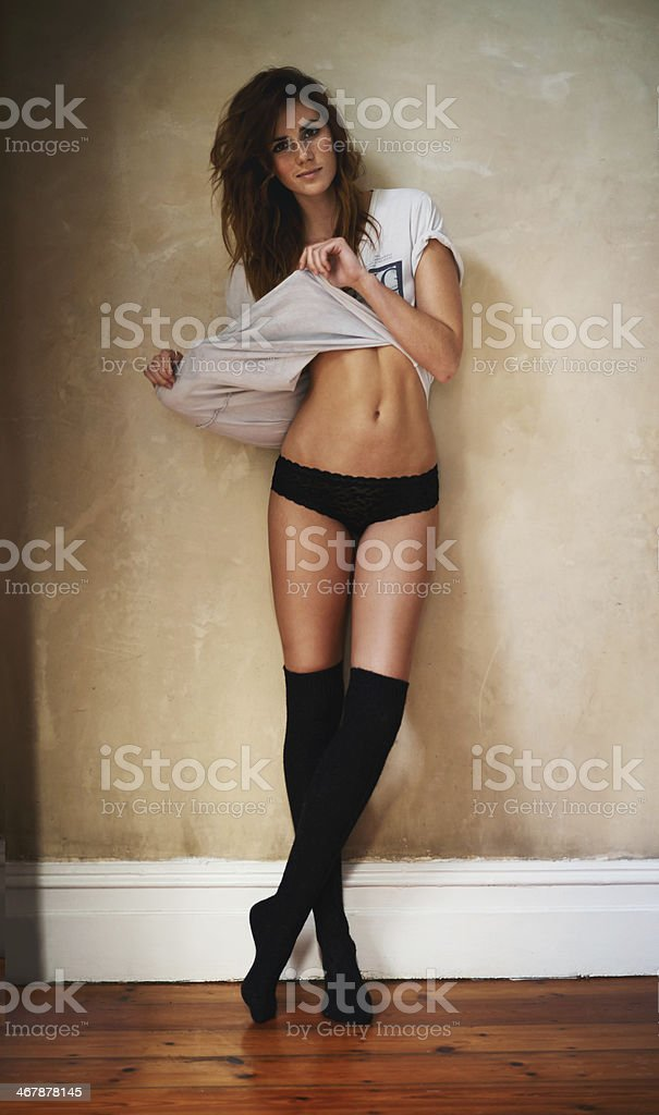 Casual yet sexy stock photo
