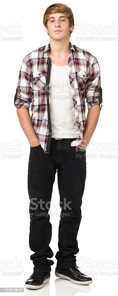 Casual Young Man Full Length Portrait stock photo
