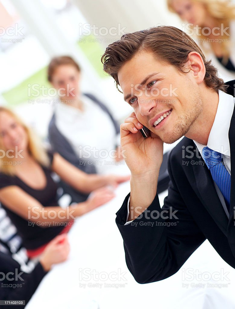 Casual Young Man on the Phone royalty-free stock photo