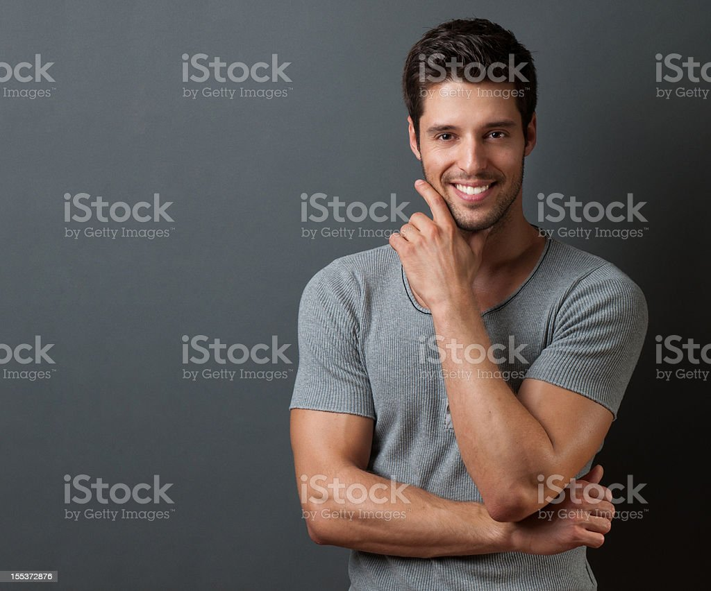 casual young man royalty-free stock photo