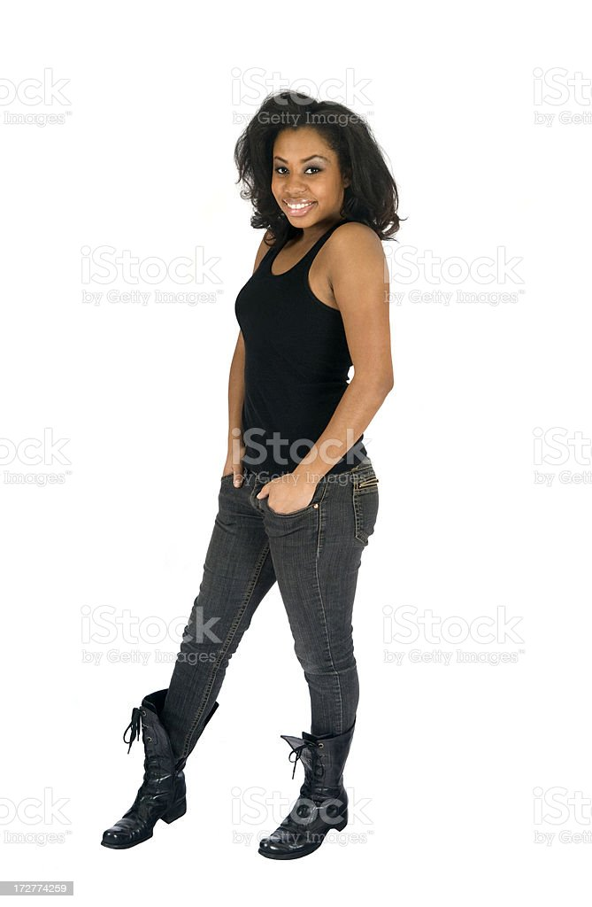 Casual Young Woman - Full Length royalty-free stock photo