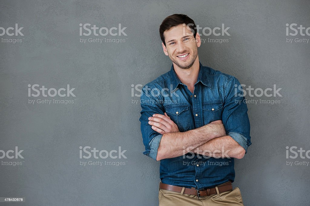 Casually handsome. stock photo