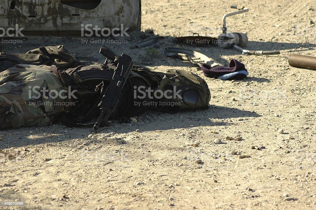 Casualties of war stock photo