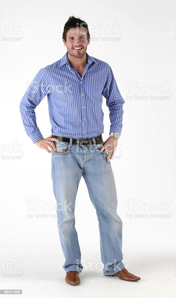 Casualy dressed man royalty-free stock photo