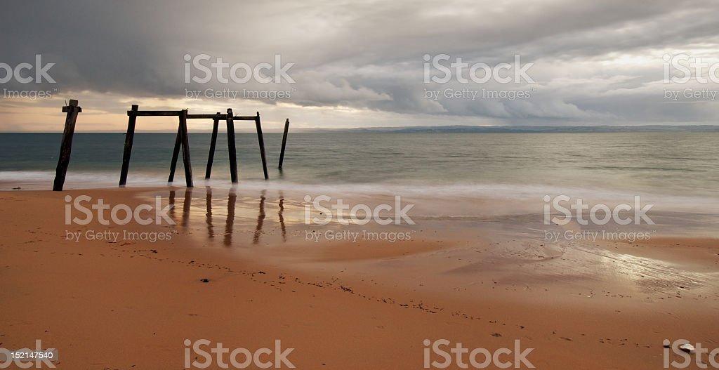 Cat Bay Structure, Phillip Island, Victoria, Australia stock photo