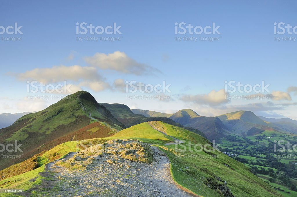 Cat Bells and the Newlands Valley, English Lake District royalty-free stock photo