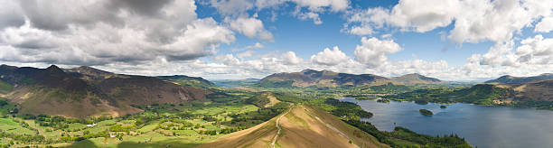 Cat Bells Panorama stock photo