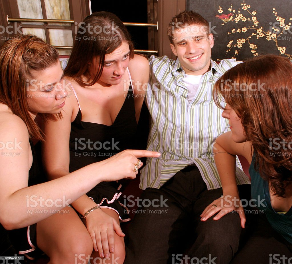 Cat Fight royalty-free stock photo