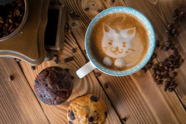 Cat foam face of latte art coffee in cup with scattered coffee beans picture id962973582?b=1&k=6&m=962973582&s=612x612&w=0&h= tluxof4ejqboj lt87kz8nxfttfohgtch8ulwmptvk=
