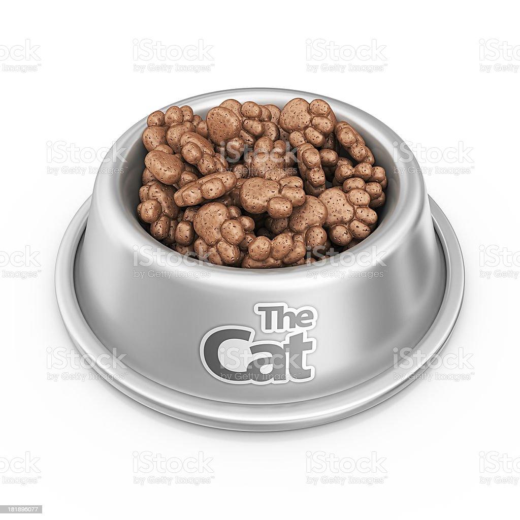 cat food bowl stock photo