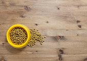 Cat food in bowl