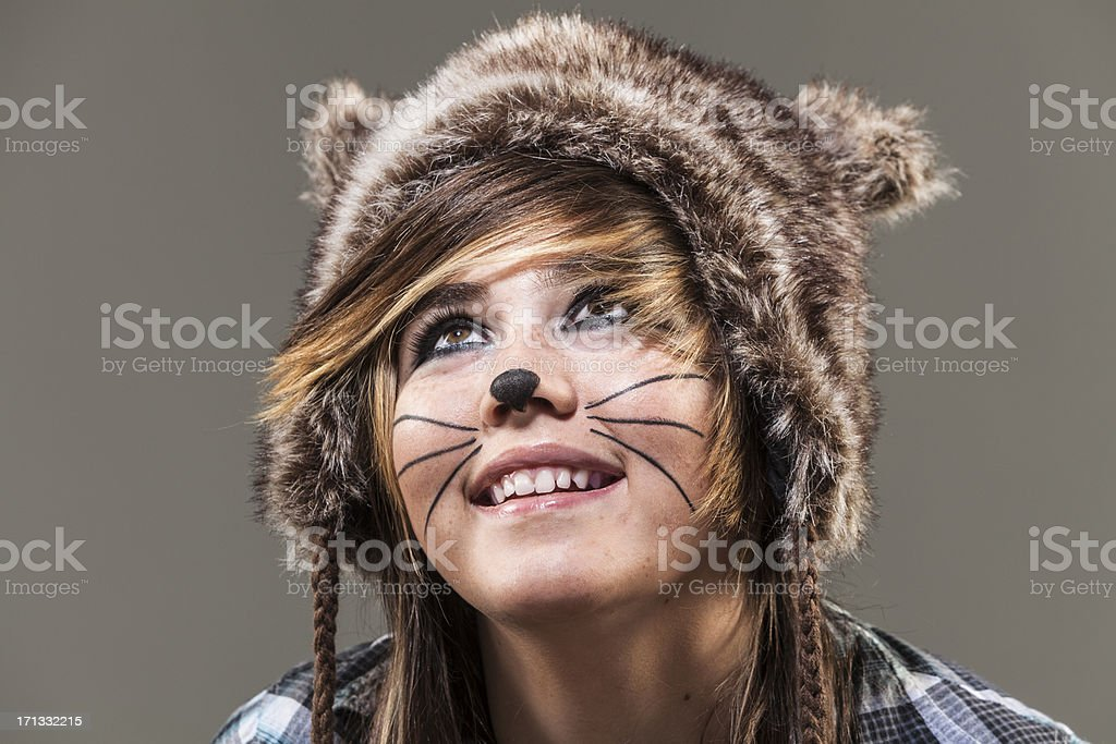 Cat Girl royalty-free stock photo