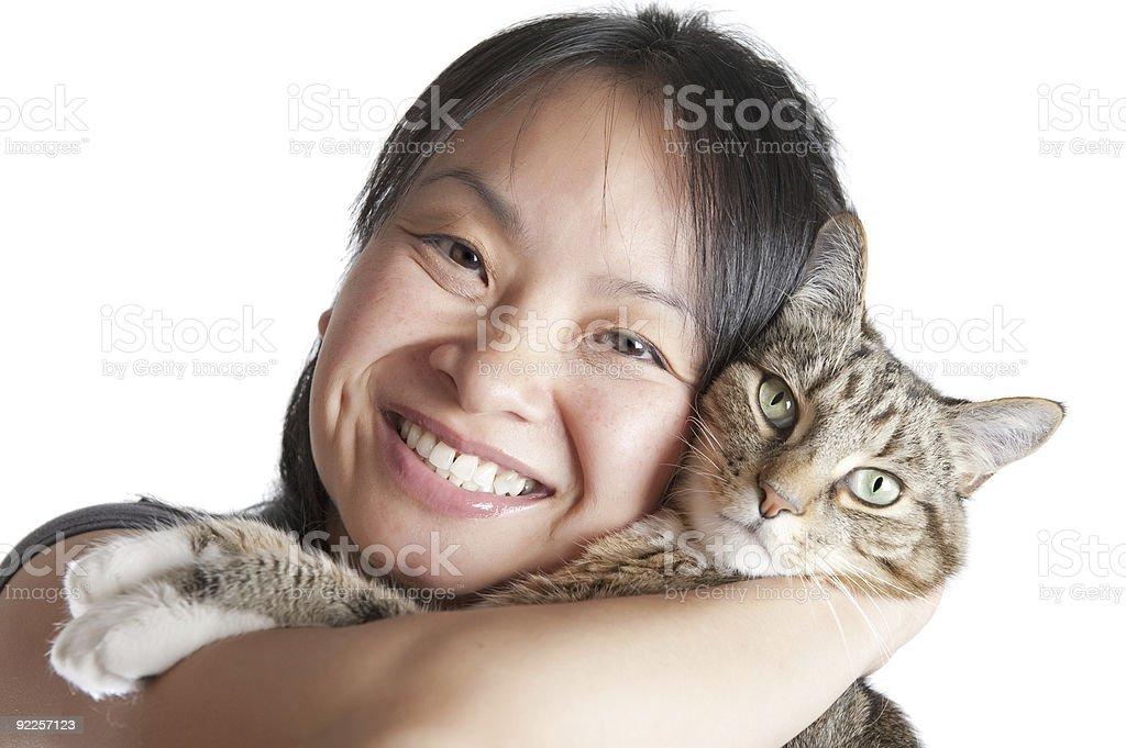 Cat lover stock photo