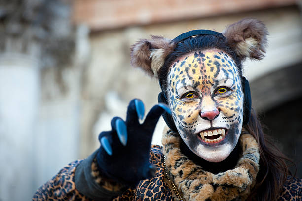 Royalty Free Young Woman With Cat Carnival Mask Pictures 2556ffaef89