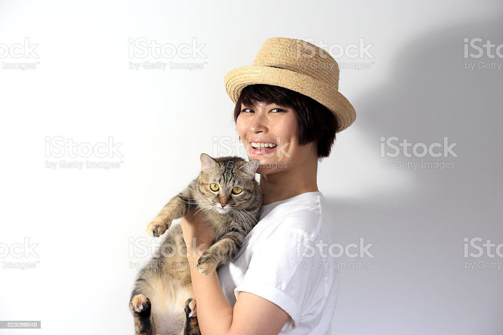 Cat People stock photo