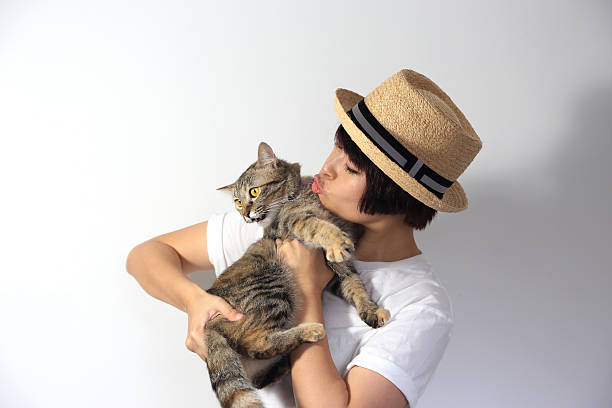 Cat People stock photo