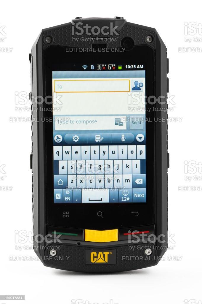 Cat phone B10 isolated on white stock photo