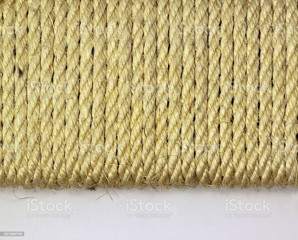 Cat scratching mat close up stock photo