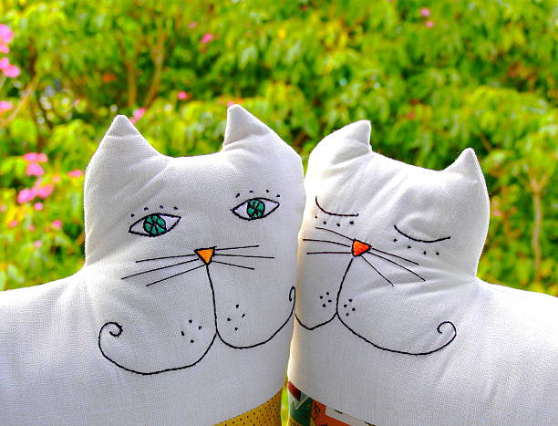 Cat Shape Cushions. stock photo