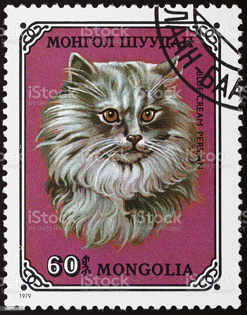 Cat stamp royalty-free stock photo
