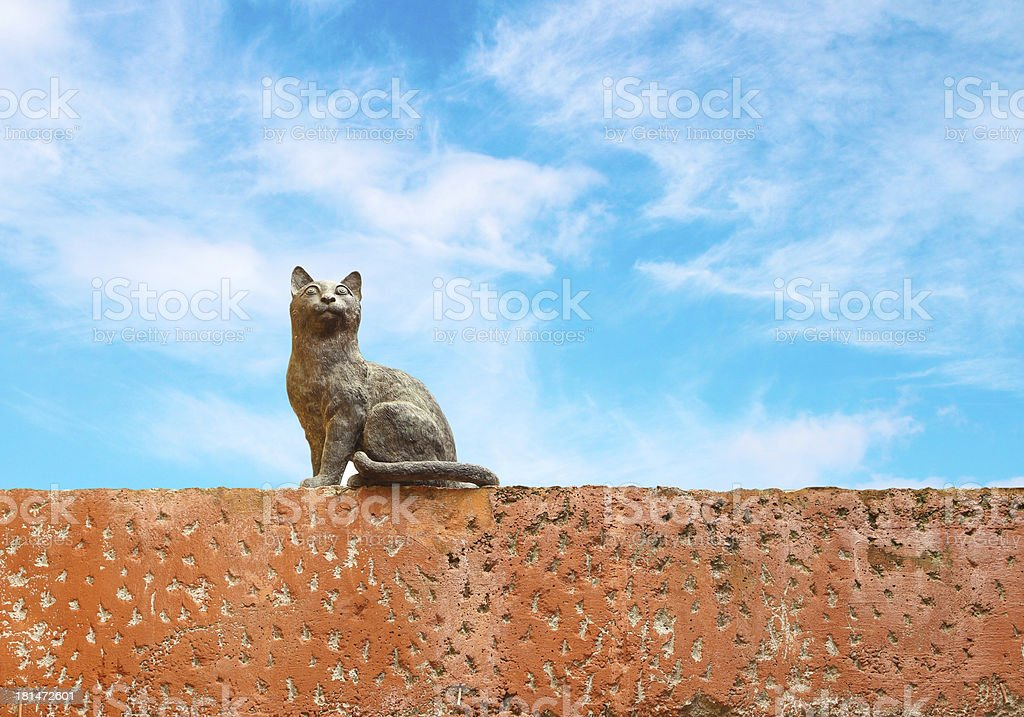 Cat statue royalty-free stock photo