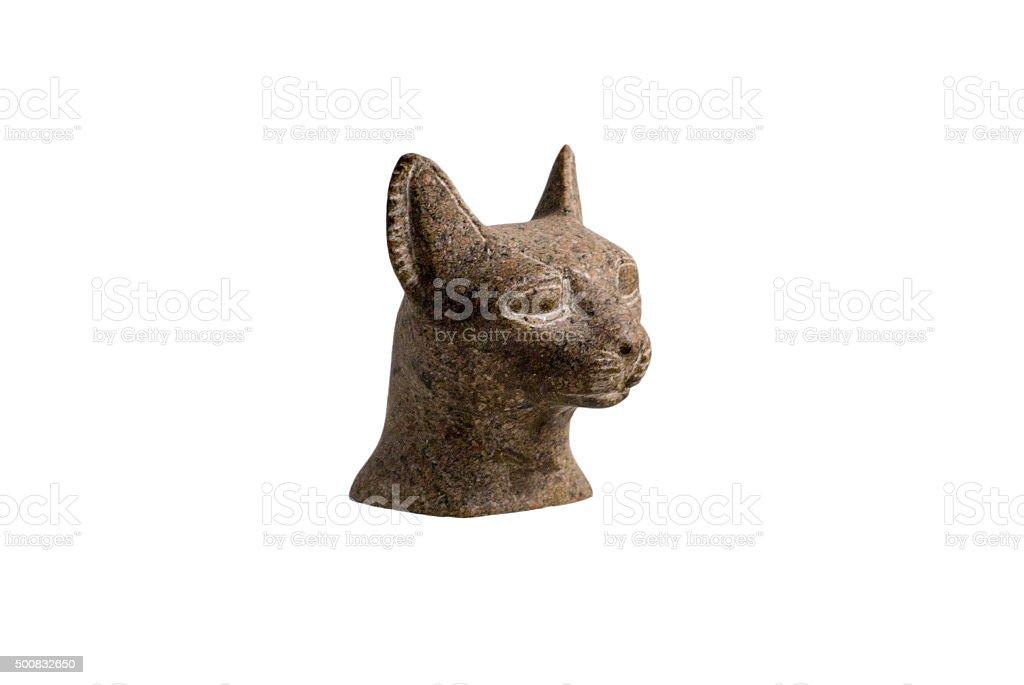 Cat statue stock photo