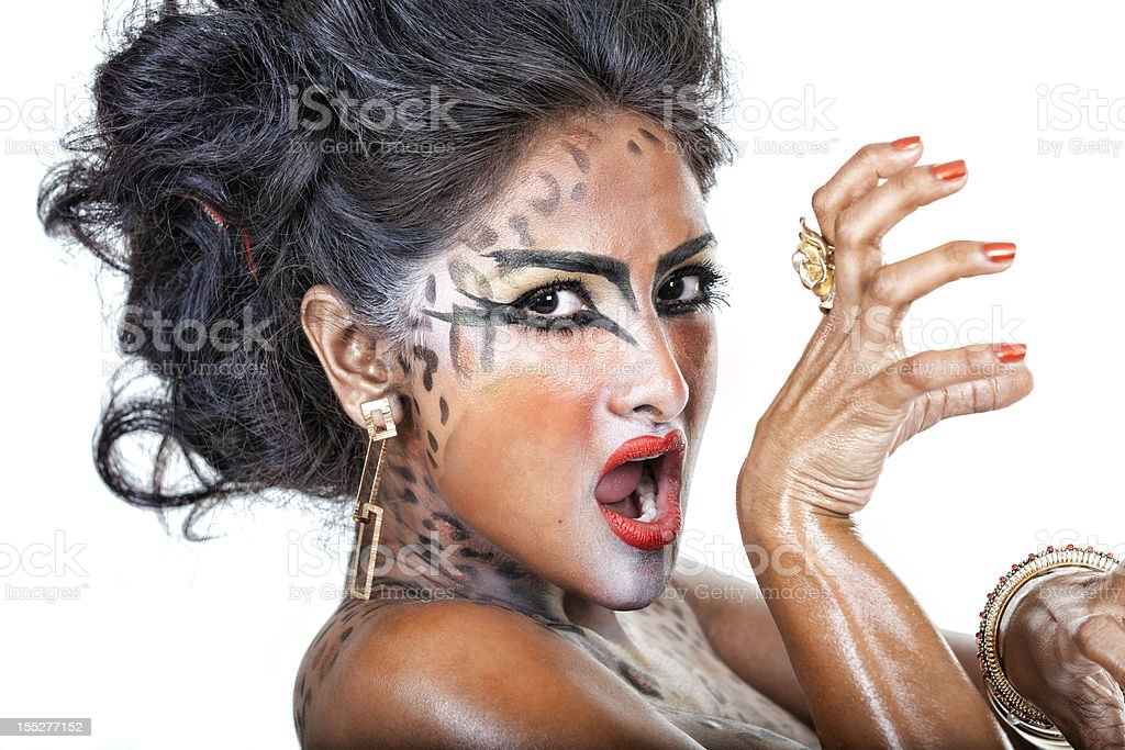 Cat Woman royalty-free stock photo