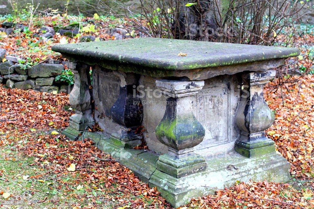 Catacomb Crypt Tomb UK Saxon Graveyard stock photo