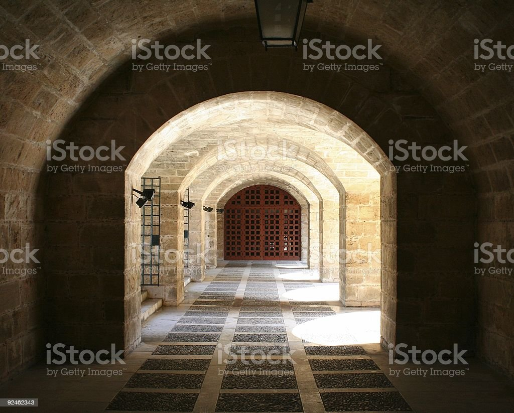 Catacomb royalty-free stock photo