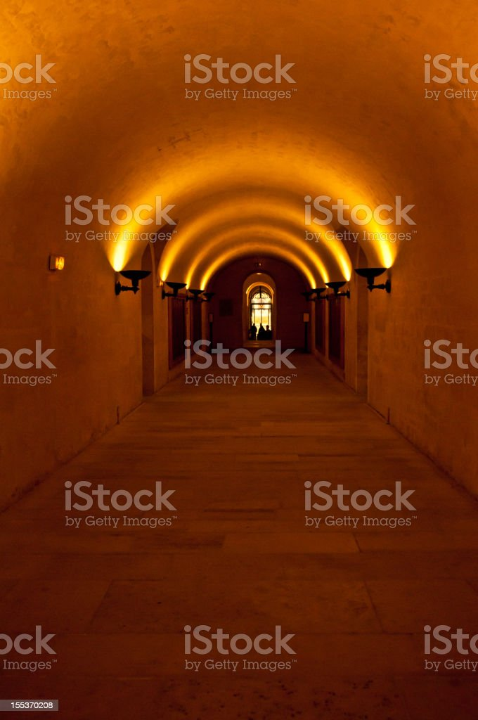 Catacombs in the Pantheon of Paris royalty-free stock photo