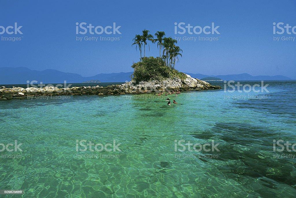 Ilha de Cataguases, Baía de Angra stock photo