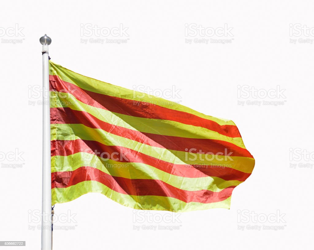 catalan flag with isolated stock photo