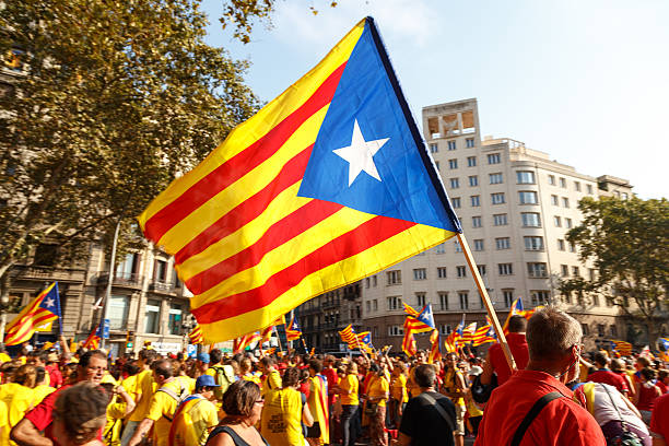Catalan National Day 2014 stock photo