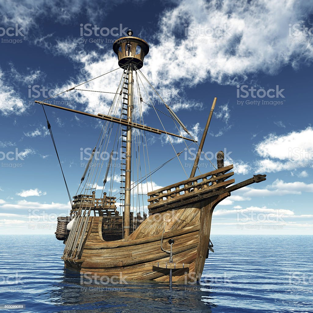 Catalan Ship stock photo