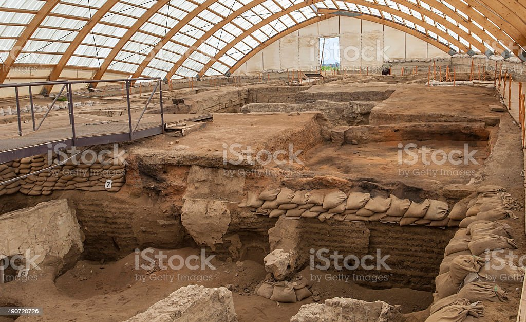 catalhoyuk stock photo