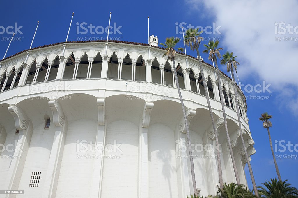 Catalina Island Historic Avalon Casino and Ballroom royalty-free stock photo