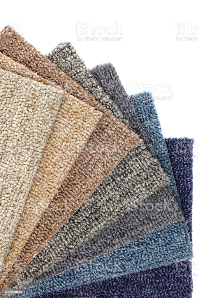Catalog of colored Carpets stock photo