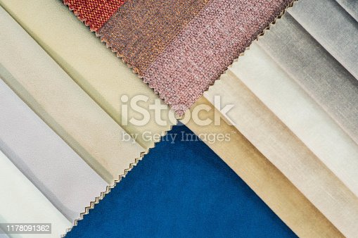 istock Catalog of multicolored cloth from matting fabric texture background, silk fabric texture 1178091362
