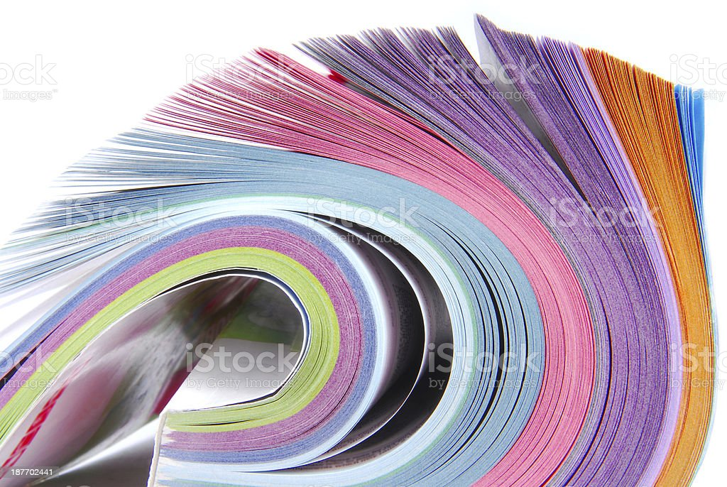 catalog rolled royalty-free stock photo