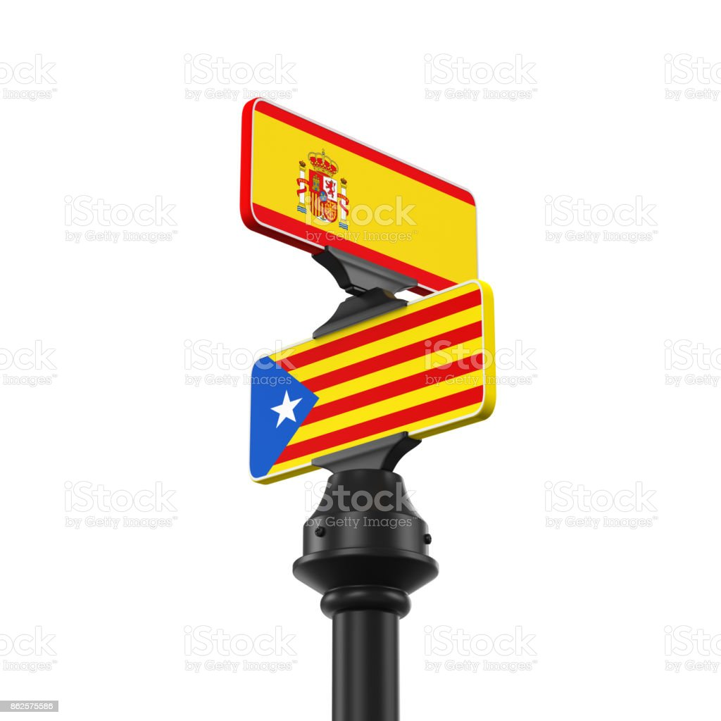Catalonia Direction Sign Isolated stock photo