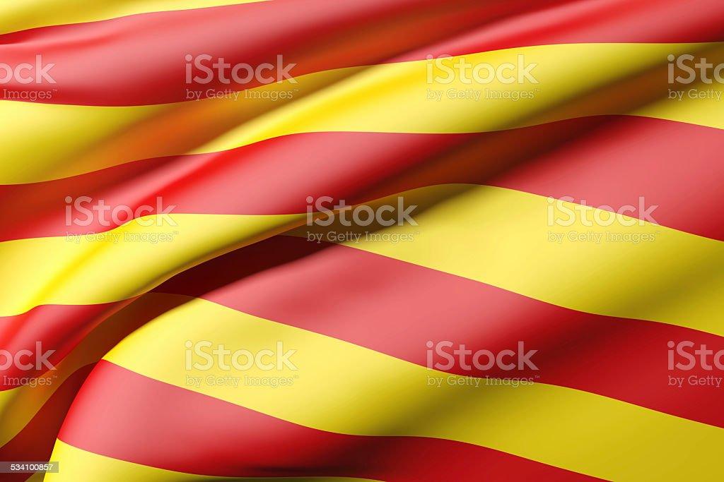 catalonia flag stock photo